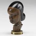 Franz hagenauer partially ebonized carved wood and brass female bust stamped handmade hagenauer wein made in vienna austria whw 4 14 x 1 12 x 2 34
