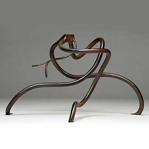 Steve tobin sinuous steel root sculpture 2009 inscribed tobin 13 12 x 24 x 18 12