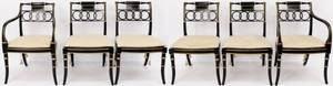 Set of Six Baker Regency Style Dining Chairs
