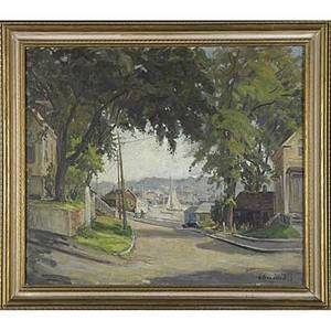 Jacob i greenleaf american 18871968 untitled 1941 oil on canvas framed signed and dated 24 x 28 provenance private collection new jersey