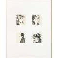 Edgar degas french 18341917 quatre tetes de femmes lithograph framed 6 34 x 5 34 provenance private collection los angeles