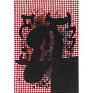 Joan miro spanish 18931983 la baquarol the bather 1969 lithograph in colors adhered to mandeure chiffon framed signed and numbered 5175 34 18 x 23 58 sheet literature mourlot 594