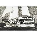 Jiri georg dokoupil czech b 1954 dinghy 1990 soot on canvas signed and dated 23 78 x 36 provenance stuart regen gallery los angeles label on verso private collection new york