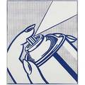 Roy lichtenstein american 19231997 spray can from 1 cent life 1964 lithograph in colors framed 12 34 x 10 58 sight provenance private collection new york