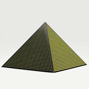 Roy lichtenstein american 19231997 pyramid 1968 screenprint on board 17 x 19 58 x 19 58 literature corlett 62 provenance private collection washington dc