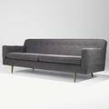 Edward wormley dunbar sofa on brass legs unmarked 30 x 84 x 33
