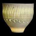 Rudolf staffel incised porcelain light gatherer vessel inscribed rudolf staffel 6 14 x 6 12