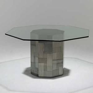 Paul evans satin bronze cityscape dining table signed an original paul evans 29 12 x 54 14