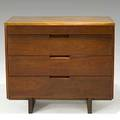 George nakashima walnut chest of drawers with one free edge provenance available signed with clients name 31 34 x 42 x 21 14