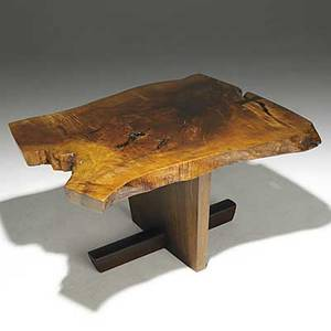 George nakashima exceptional english walnut and rosewood minguren side table provenance available signed with clients name 18 x 33 x 29
