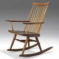 George nakashima walnut new rocking chair with arms signed hand  spirits rocker 36 x 25 x 28