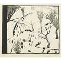 Wharton esherick woodcut on rice paper washington square 1933 provenance private collection west virginia signed dated and titled image 8 38 x 9 34 sheet 13 x 13 78