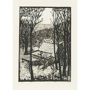 Wharton esherick woodblock print on rice paper diamond rock hill 1923 pencil signed titled and numbered 2636 sheet 20 x 15 14