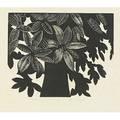 Wharton esherick woodblock print on rice paper alabama  magnolia 1929 pencil signed titled sheet 18 14 x 16