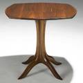 Sam maloof sculpted walnut occasional table etched signature made for ed eckenhoff sm no 22 2004 sam maloof 22 x 214 x 23 12