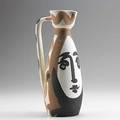 Picasso madoura bisquefired earthenware pitcher with face signed edition picasso madoura 12 x 5