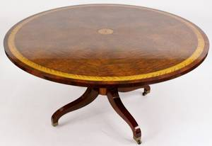 George III Style Mahogany Banded Breakfast Table