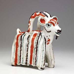 Guido gambone glazed ceramic goat signed gambone italy 10 14 x 10 x 4