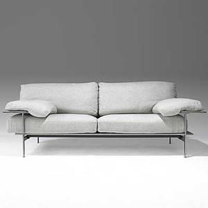 Antonio citterio paolo nava b  b italia leather wool and aluminum sofa bb italia fabric label 31 x 86 x 36