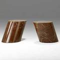 Lucia mercer knoll fine italian marble side tables unmarked 15 x 20 12 top 14 34 x 13 12
