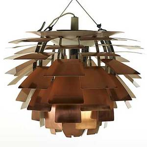 Poul henningsen louis poulsen copper artichoke hanging fixture 1960s louis poulsen co and paper label fixture 18 12 x 24