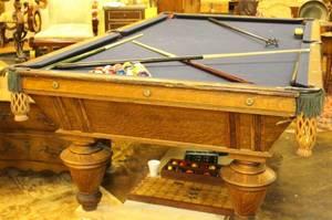 1898 Brunswick Narrangasset Billiards Table