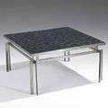Poul henriksen asbjornmobler polished steel and glazed ceramic tile mosaic cocktail table unmarked 16 x 31 sq