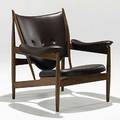 Finn juhl baker teak and original cognac leather chieftain lounge chair unmarked 36 12 x 38 x 33
