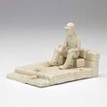Jack earl glazed white clay sculpture when your toes hurt you cant work 1977 provenance collection of daniel jacobs and derek mason inscribed jack earl lakeview ohio 1977 and titled 4 x 4