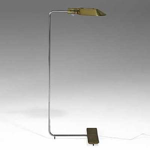 Cedric hartman cedric hartman inc brass acrylic and stainless steel floor lamp each stamped cedric hartman 870473 signature made in usa 36 x 11 x 13