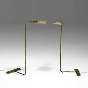 Cedric hartman cedric hartman inc pair of brass and acrylic floor lamps each stamped cedric hartman 860450 signature made in usa 36 x 11 x 13