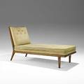Th robsjohngibbings widdicomb fine mahogany chaise lounge marked with widdicomb fabric label 33 12 x 25 12 x 60