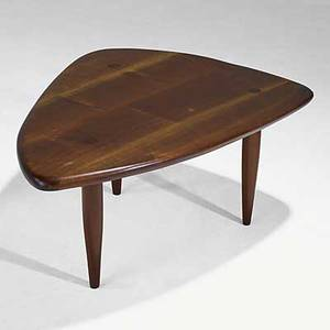 Phil powell sculpted walnut cocktail table unmarked 15 x 36 x 28