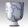 Gio ponti richard ginori glazed porcelain vase alato 1920s stamped richard ginori 276 italia richardginori pittoria di doccia gio ponti 7 12 x 6