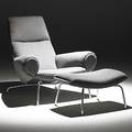 Hans wegner johannes hansen chromed matte steel and wool lounge chair and ottoman 1960s unmarked 36 x 36 x 36 ottoman 16 x 29 x 17