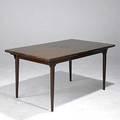Hans wegner rosewood extension dining table 29 x 99 open