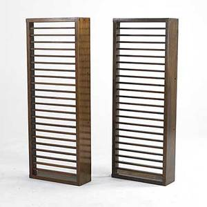 George nakashima pair of walnut radiator covers of slatted construction made for the church of st martin of tours in new hope pa 53 x 20 x 7