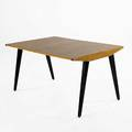 George nakashima knoll birch dining table on enameled wood legs with one 8 leaf 28 12 x 54 12 x 36 14
