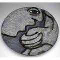 Mark chatterly monumental stoneware charger decorated in volcanic glaze marked mc 2000 29 14 dia