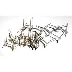 Curtis jere wall sculpture flock of birds signed c jere 24 x 58 x 8 12