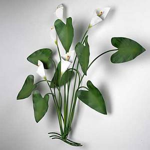 Curtis jere cala lily wall sculpture signed and dated 1988 34 x 35