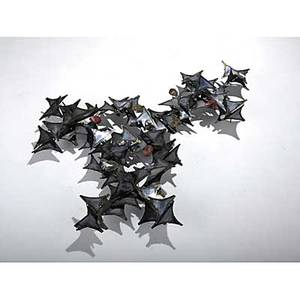 Style of curtis jere mixed metal wall sculpture unmarked 48 x 38 x 6 12