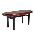 Contemporary leather topped partners desk on heavy dark stained oak base 29 12 x 72 x 30