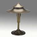 Walter von nessen miller lamp co anodized bronze table lamp with brass finial unmarked 14 34 x 11 12