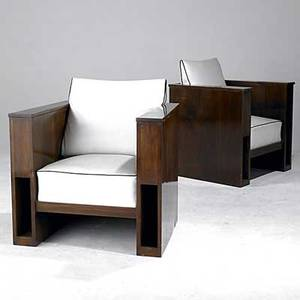 Art deco pair of club chairs with vinyl upholstery and mahogany legs 33 x 33 x 27 12