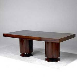 Art deco fine extension dining table on double pedistal base 30 x 79 12 x 39 12