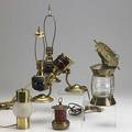 Chase nautical motif lamps seventeen pieces include examples of the binnacle masthead lighthouse etc