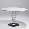 Isamu noguchi knoll cyclone table with laminate top and chromed legs 28 12 x 48 dia