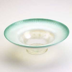Tiffany studios favrile glass pastel bowl etched lc tiffany favrile 1588 3 34 x 12