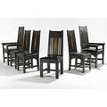 Shop of the crafters rare set of six inlaid dining chairs two arm four side paper labels armchairs 48 x 27 x 23 12